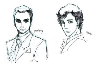 Moriarty-Holmes by eguana