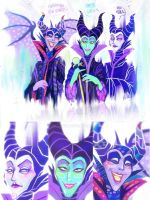 Maleficent Trio ( Concept Art ) by Witchin
