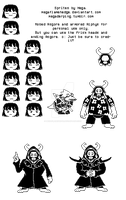 Buncha Undertale sprites by megaflamehedge