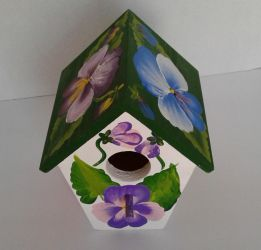 Custom made Pansy Birdhouse by sweetpie2