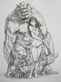 Frazetta tribute by Moulunerie