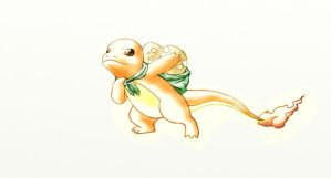 Charmander colored by DestinyGirl16