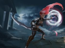 Katarina - League of Legends fan art by gogo1409