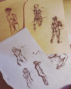 Life Drawing - Compilation **(REUPLOAD)** by GreekGeekOfGuelph