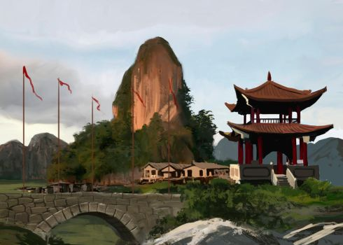 Bridge in the Mountains Concept by Entar0178