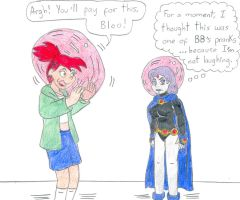 Bubbled Frankie and Raven by Jose-Ramiro