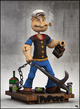 Popeye. 3d by MarcMons007