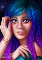 Vyla the galaxy girl (Art Prize) by LacrimareObscura