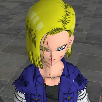 Android 18 beaten - 3D version by jwan100