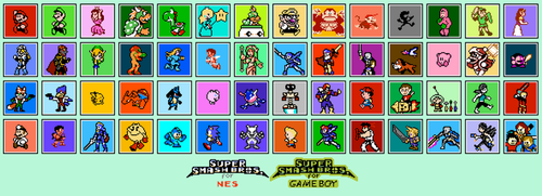 Super Smash Bros for Wii U and 3DS 8 bit by LustriousCharming