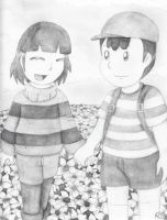 :Commission: Walk with Ness and Flisk by still-a-fan
