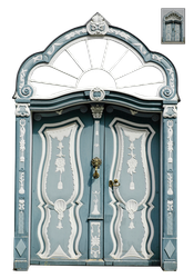 UNRESTRICTED - Blue Ornate Door by frozenstocks