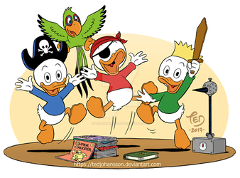 The 80th anniversary of Huey, Dewey and Louie by TedJohansson