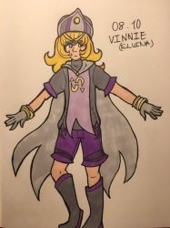 vinnie (OC-tober day 8) by DawnRedd