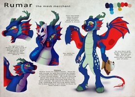 Rumar the Mask Merchant by AbsoluteDream