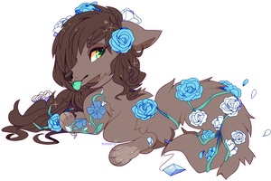 {OC} Blue rose by Susouris