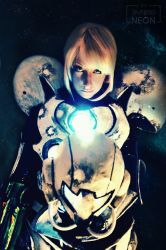 Light Suit Samus Aran by Its-Raining-Neon