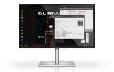 Alienware HQ RED Windows 7 Theme by Designfjotten