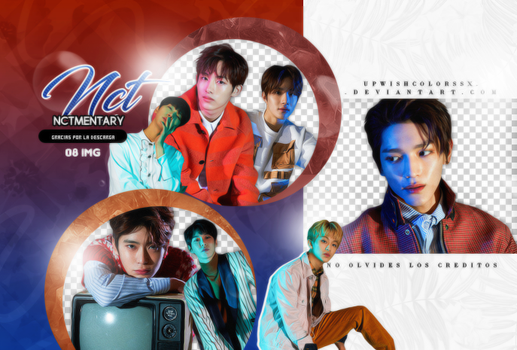 NCT  PNG PACK #7/NCTmentary by Upwishcolorssx