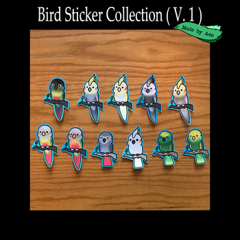 Parrot Stickers ( v.1 ) by SPPlushies
