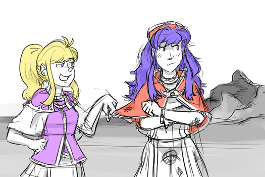 Supports That Should Have Happened: Clarine-Lilina by RisingSunfish