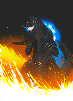 The Raging Mad Gojira by SeanSumagaysay