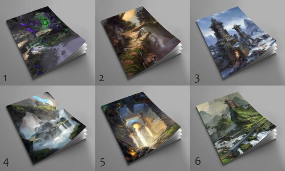 Artbook cover samples by AnDary