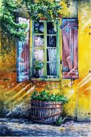 Sunny afternoon in Provence by vasoiko