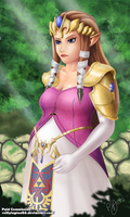 (Commission) Princess Zelda. by Reillyington86