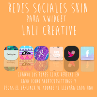 Redes sociales skin xwidget by LaliCreative