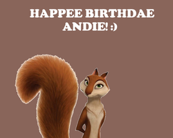 Happee Birthdae Andie! by Nolan2001