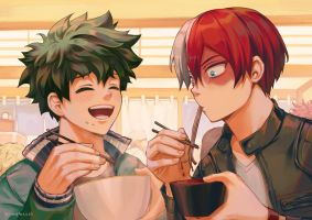 TodoDeku - Eating by Kimopoleis