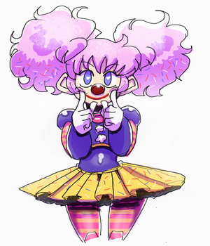 Sprinklewoman the Clown by Dollwoman