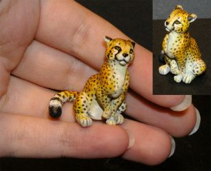 Cheetah Sculpture by Vertaki
