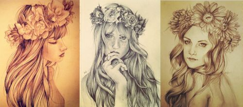With Flowers in Your Hair by RazSketch
