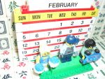 My 8th LEGO Build: Brick Calendar #1-4 by takeshimiranda