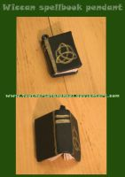 wiccan spellbook pendant by SongThread