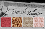 Patterns: Damask Wallpaper by StrangeClaire