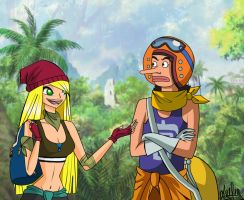One Piece: Leena and Usopp Strong World by Laefey