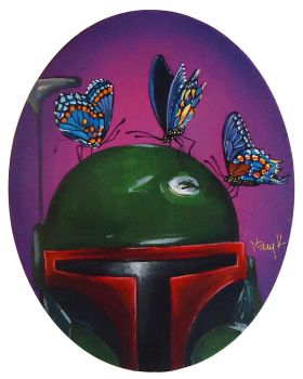 Boba Fett with Butterflies by TrampLamps