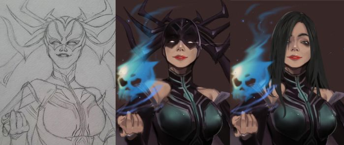 Hela GoddessofDeath [Collaboration with Yomz] by NaseCafe