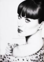 Katy Perry Portrait Drawing by RaymondGun