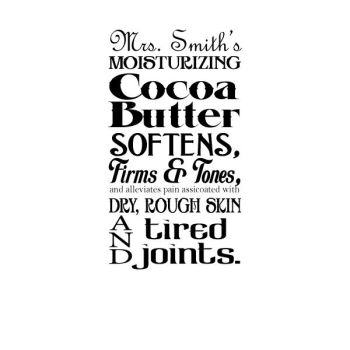 Mrs. Smith's Cocoa Butter by antonius-q