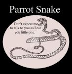 Reptile Buddies Parrot Snake by UnicronHound