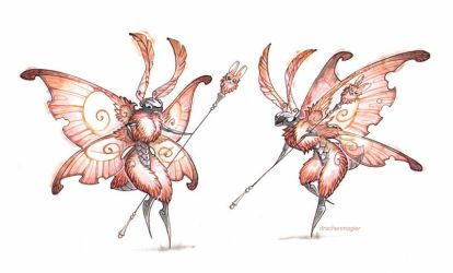 bunny moths by drachenmagier
