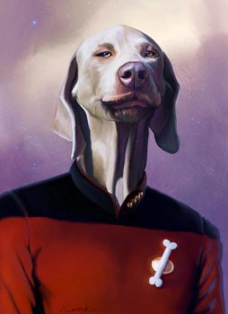 Jean Luc Picard - caricature by fantasio