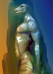 color sketch of lizard by ymymy