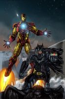 Batman and Iron Man COLORED by jey2dworld