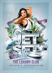 Jet Set Party flyer by n2n44