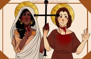 St. Perpetua and St. Felicitas by Anthenora